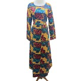 VSTAR Casual Gamis Batik [62-144] - Yellow (V) - Maxi Dress Wanita